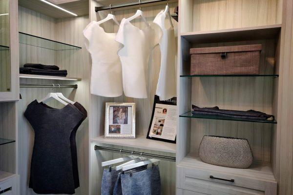 display at California Closets Interior designer in La Jolla, CA