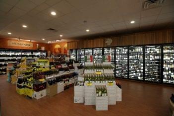 display at Traino's Wine & Spirits Liquor Store in Evesham Township, NJ