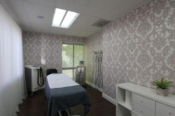 exam room at Prolase Medispa medical spa in Burke, VA
