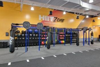 hit zone heavy bag training ground at Crunch Fitness Midlothian Gym and Health Club in Richmond, VA