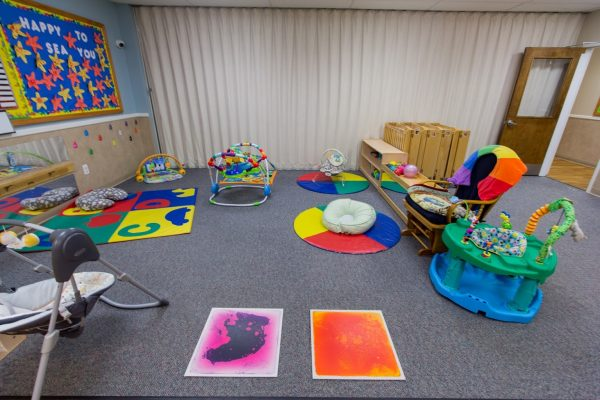 infant room at Lightbridge Academy pre-school and daycare in Whippany, NJ