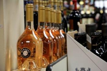 liquor bottles in Traino's Wine & Spirits Liquor Store in Evesham Township, NJ