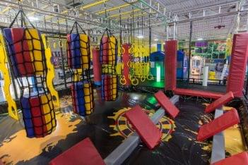 obstacle course at Funzilla amusement center in Fairless Hills, PA
