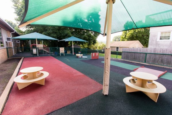 playground area at Lightbridge Academy pre-school and daycare in Mahwah, NJ