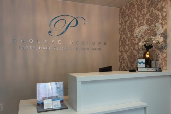 receptionist desk at Prolase Medispa medical spa in Burke, VA