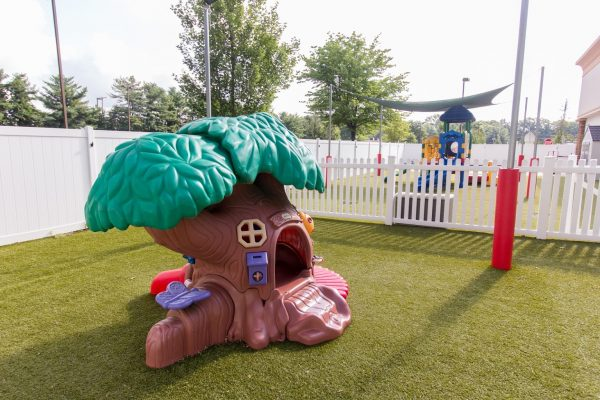 tree playhouse in the playground at Lightbridge Academy pre-school and daycare in Manalapan, NJ