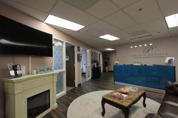 waiting room at Prolase Medispa medical spa in Fairfax, VA