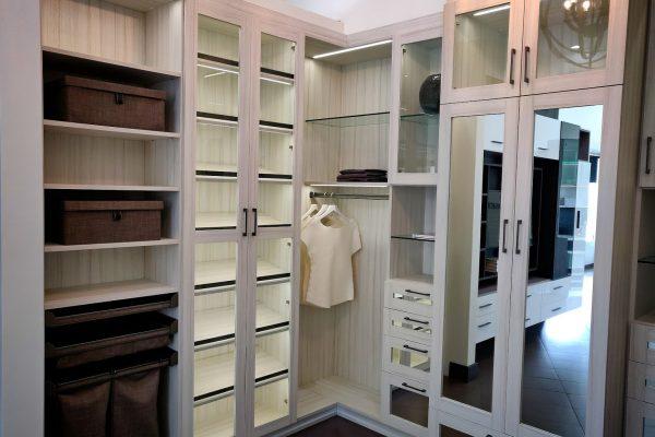 wardrobe organization at California Closets Interior designer in La Jolla, CA