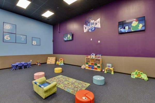 daycare room in Crunch Fitness fitness gym in Raleigh, NC