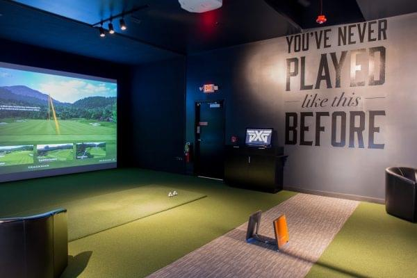 driving range simulator at Parsons Xtreme Golf store PXG in Chicago, IL