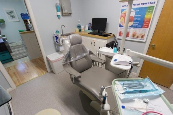exam room chair in Dental Arts Group Dentist in Elmer, NJ