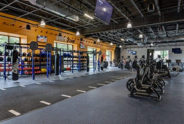 hit zone at Crunch Fitness fitness gym at Cameron Village in Raleigh, NC