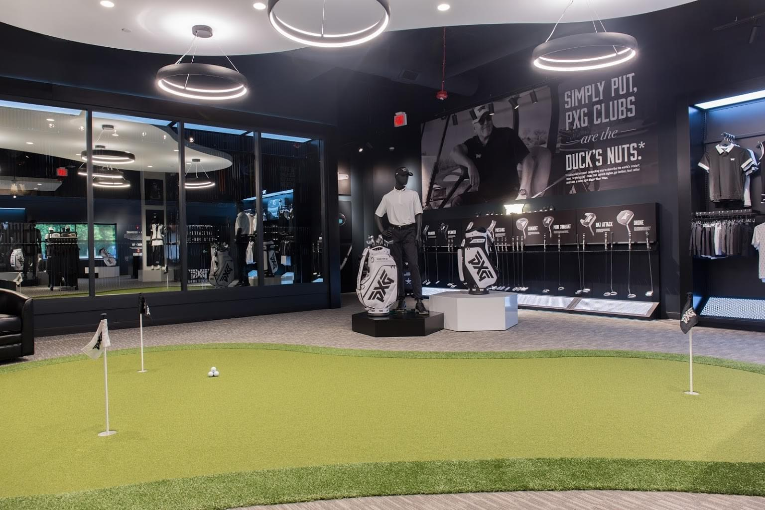 putting green at Parsons Xtreme Golf store PXG in Chicago, IL
