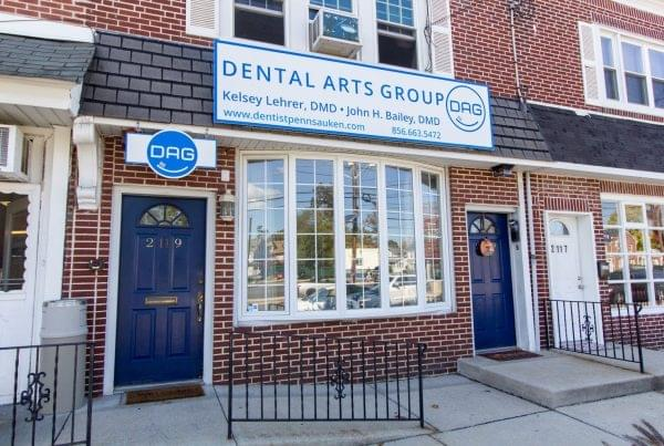store front of Dental Arts Group Dentist in Pennsauken, NJ