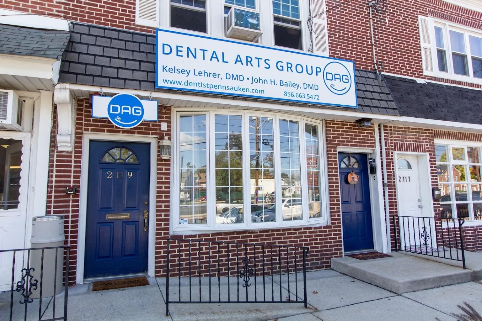 store front of Dental Arts Group Dentist in Pennsauken, NJ