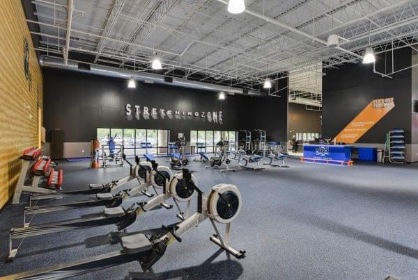 stretching zone at Crunch Fitness fitness gym in Raleigh, NC