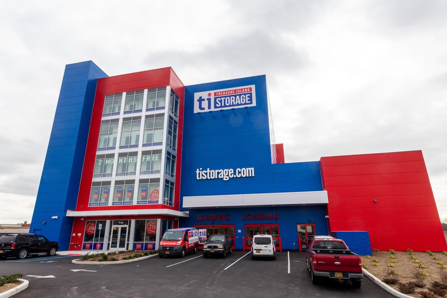 building of Treasure Island Storage facility in Glendale, NY