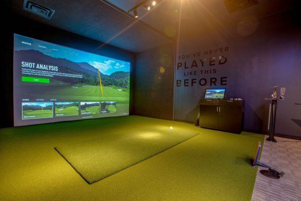 driving range simulator at Parsons Xtreme Golf store PXG in Atlanta, GA