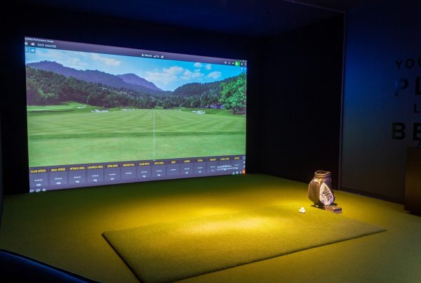 driving range simulator at Parsons Xtreme Golf store PXG in Minneapolis, MN