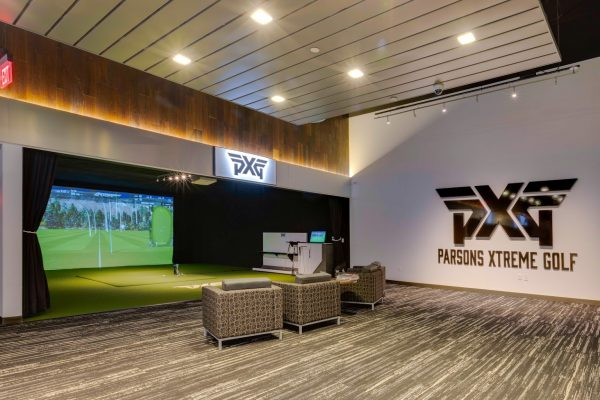 driving range simulator at Parsons Xtreme Golf store PXG in Scottsdale, AZ