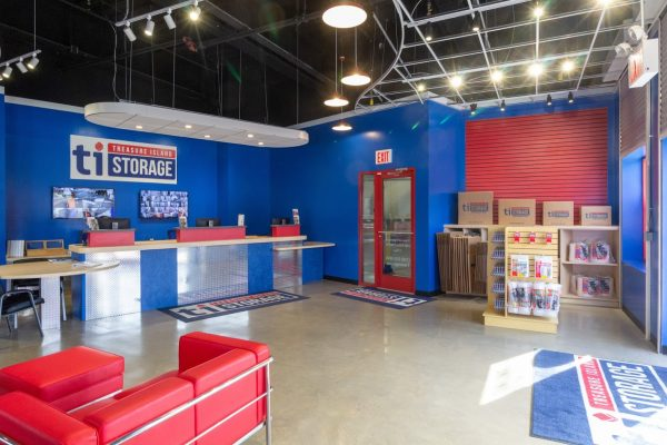 front desk at Treasure Island Storage facility on Remsen Ave in Brooklyn, NY