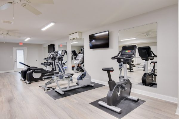 gym at Village 1 Apartments in Lawrence, KS