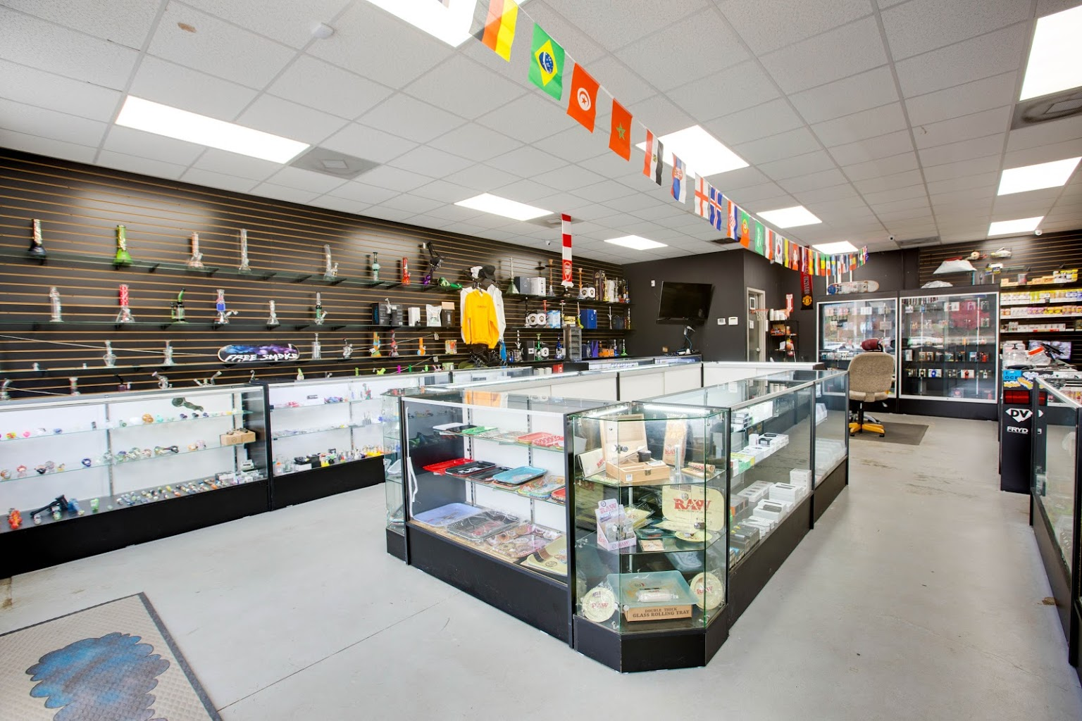 interior of Free Smoke Vape and Smoke Shop on Indian Trail Lilburn Rd Norcross, GA