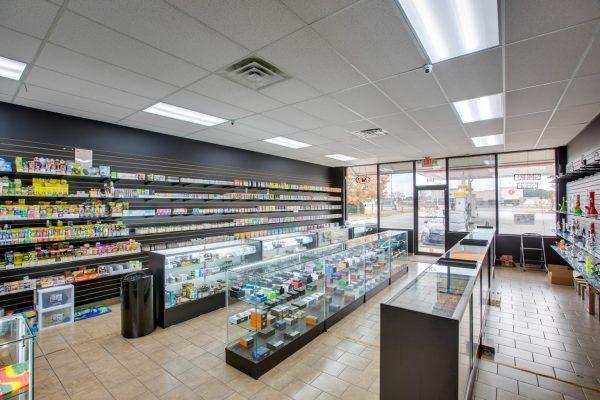 interior of Free Smoke Vape and Smoke Shop on Jimmy Carter Blvd, Norcross, GA