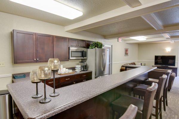 kitchen bar at Village 1 Apartments in Lawrence, KS