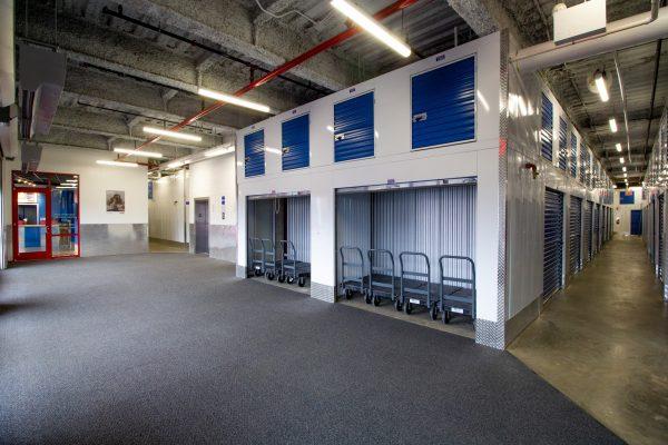 loading area at Treasure Island Storage facility in Glendale, NY