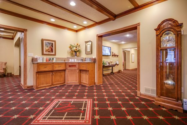 lobby at Wenig Funeral Homes in Sheboygan Falls, WI