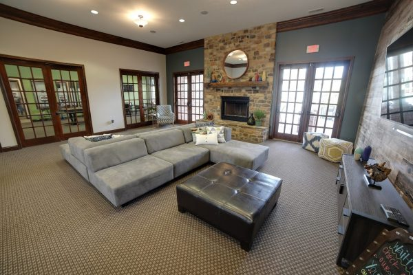 lounge at Canyon Club at Perry Crossing, Apartment building in Plainfield, IN