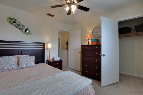 model bedroom at Cross Creek Cove Apartments & Townhomes in Fayetteville, NC