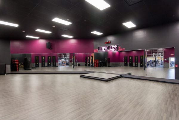 multi-purpose room at Crunch Fitness gym at Canton Crossing in Baltimore, MD