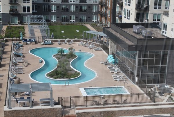 pool at Talo Apartments in Golden Valley, MN