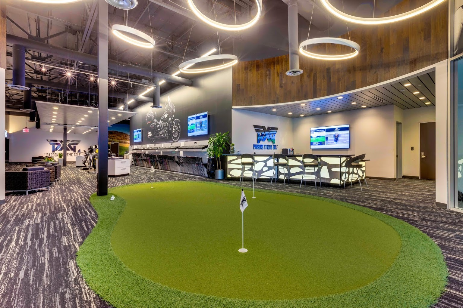 putting green at Parsons Xtreme Golf store PXG in Scottsdale, AZ
