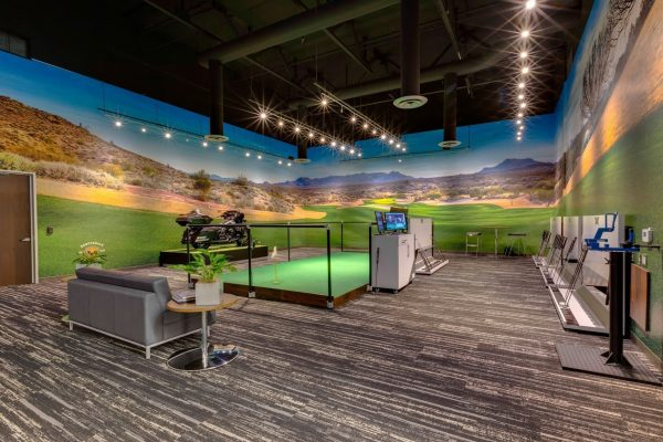 putting room at Parsons Xtreme Golf store PXG in Scottsdale, AZ