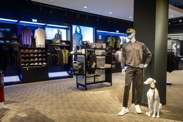 retail apparel display at Parsons Xtreme Golf store PXG in Minneapolis, MN