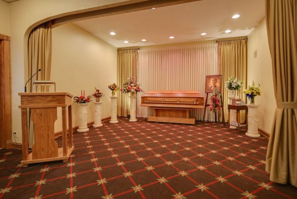 viewing room at Wenig Funeral Homes in Sheboygan Falls, WI