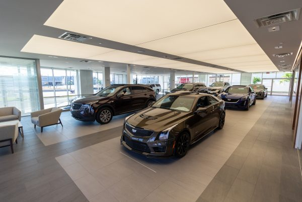 Brogan Cadillac of Totowa car dealership showroom