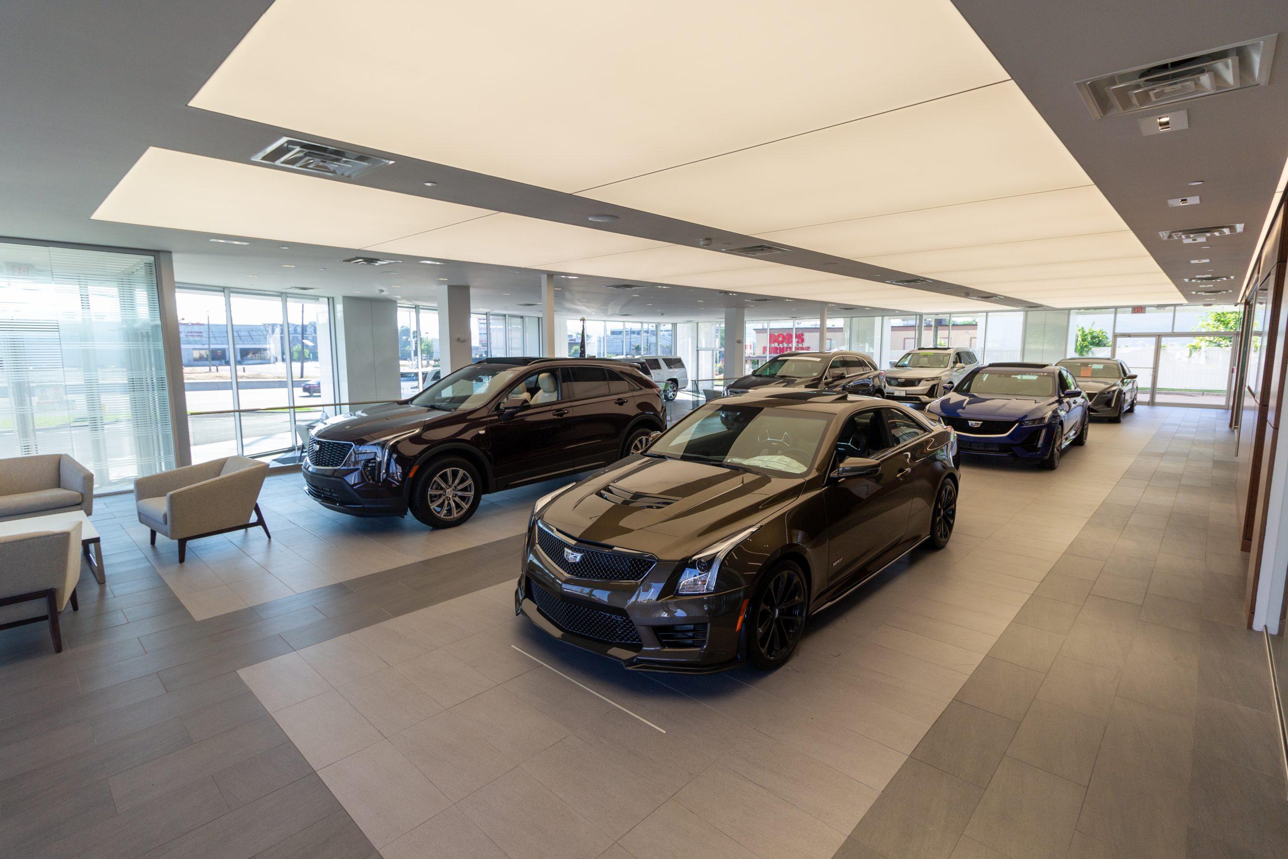 Brogan Cadillac of Totowa car dealership showroom