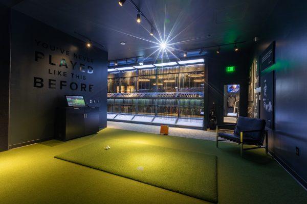 Golf driving range simulation at PXG Westgate Glendale, AZ