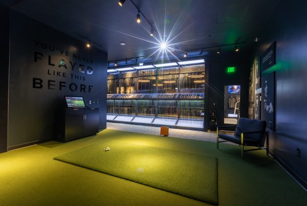Golf driving range simulation at PXG Westgate Glendale, AZ