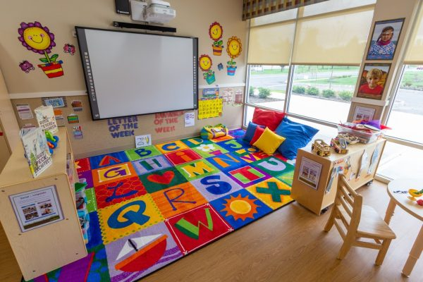 classroom projector screen at Lightbridge Academy Day Care in Somerset, NJ