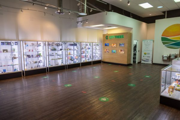 displays at Oasis Cannabis Dispensary & Delivery in Las Vegas, NV