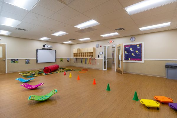 multi-purpose room of Lightbridge Academy Day Care in Somerset, NJ
