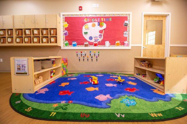 reading rug at Lightbridge Academy Day Care in South Brunswick, NJ