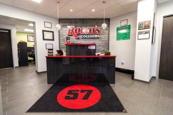 reception desk at Rocco's Collision Center Auto Body Shop in Berlin, NJ