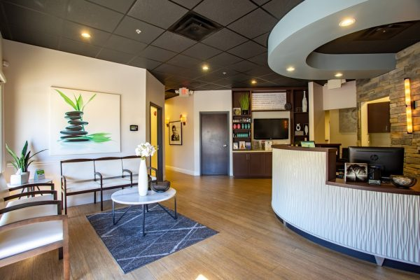 reception lobby of Crist Chiropractic in Franklin, TN