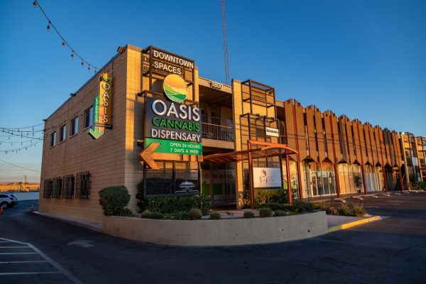 storefront of Oasis Cannabis Dispensary & Delivery in Las Vegas, NV